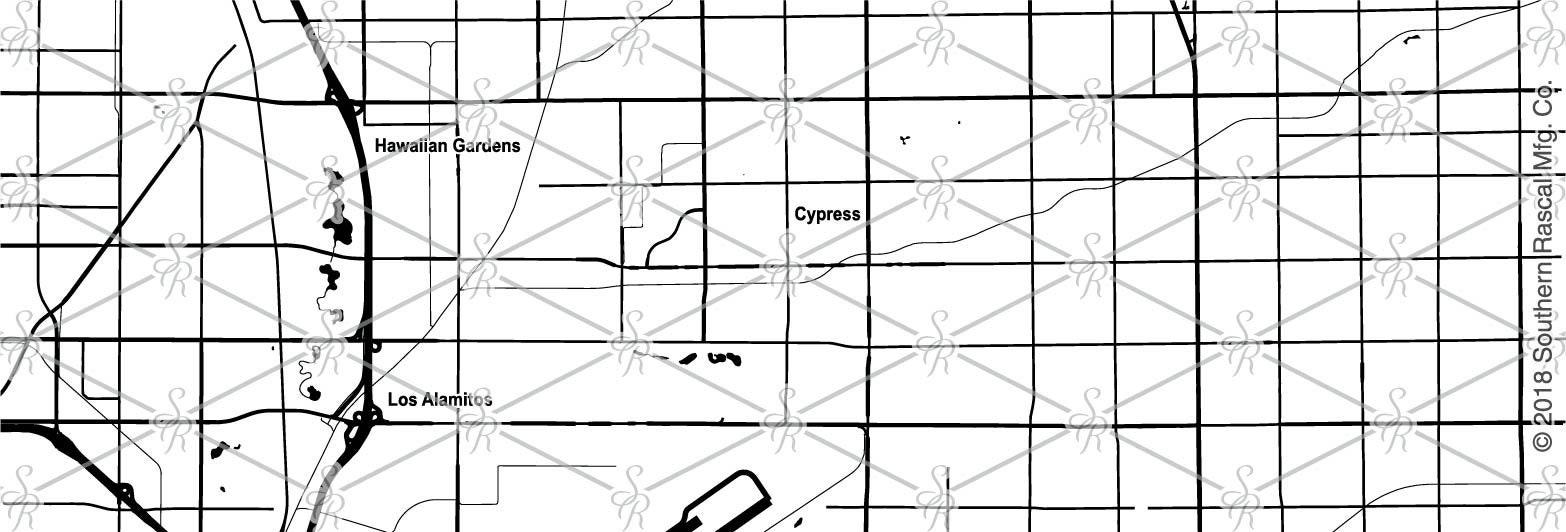 Cypress California Map Whiskey Glass Gift