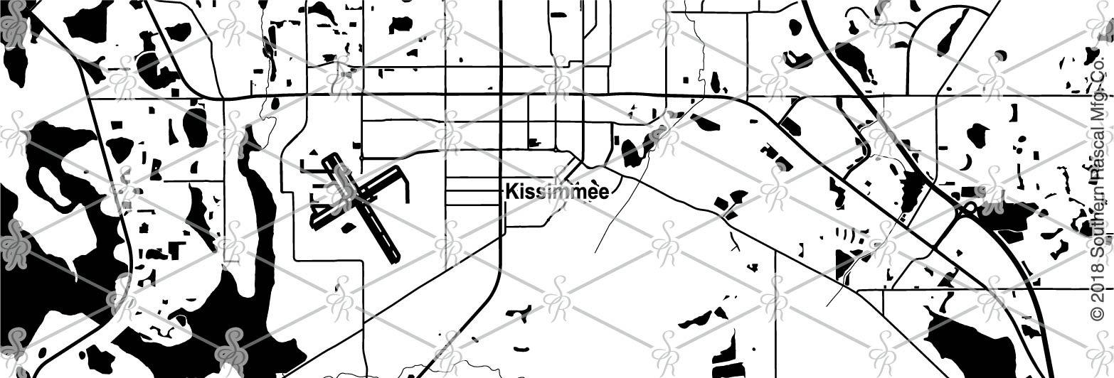 Kissimmee Florida Map.Kissimmee Florida Map Whiskey Glass Gift