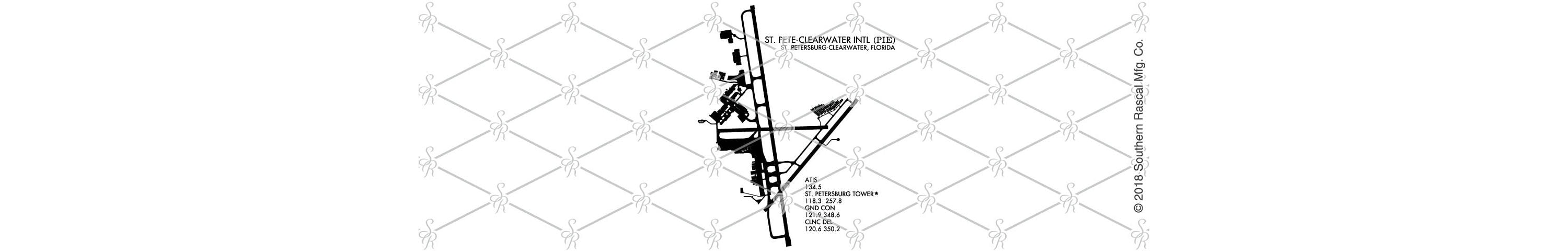St Peteclearwater International Airport Pilot Map Whiskey Glass Gift Still Diagram