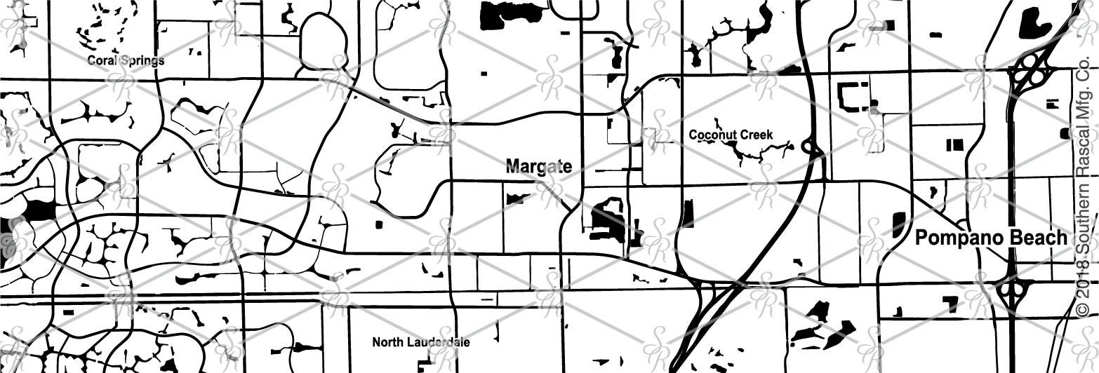 Margate Florida Map.Margate Florida Map Whiskey Glass Gift