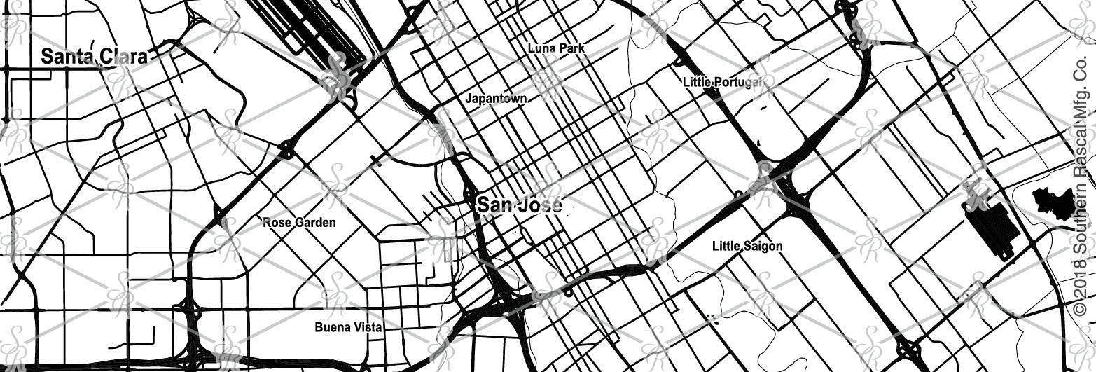 Little Saigon California Map.San Jose California Map Whiskey Glass Gift