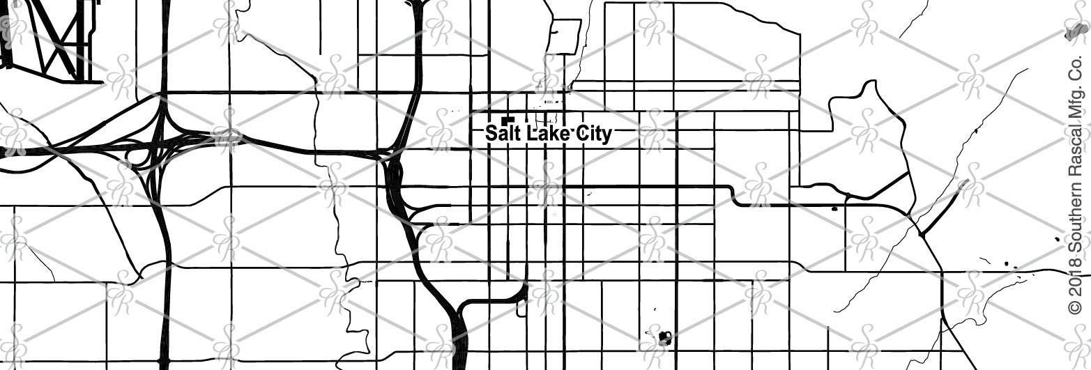 Salt Lake City Utah Map Whiskey Glass Gift