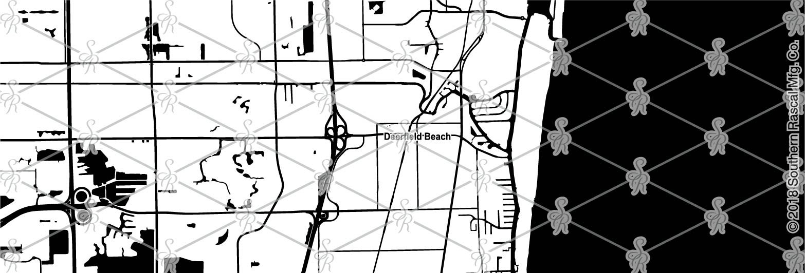 Deerfield Beach Florida Map.Deerfield Beach Florida Map Whiskey Glass Gift