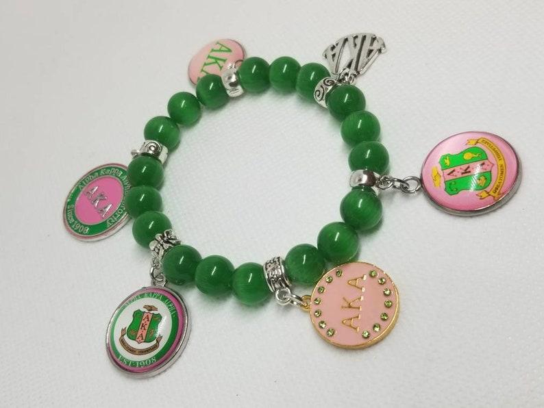 642882d73fe6c Alpha kappa alpha charms galore charm bracelet