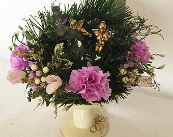 Pine & Purple Carnations