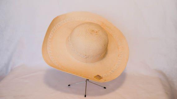 Vintage WalMart Pink Wide Brim Sun Hat with Lace Detail  d65b79c2a7f