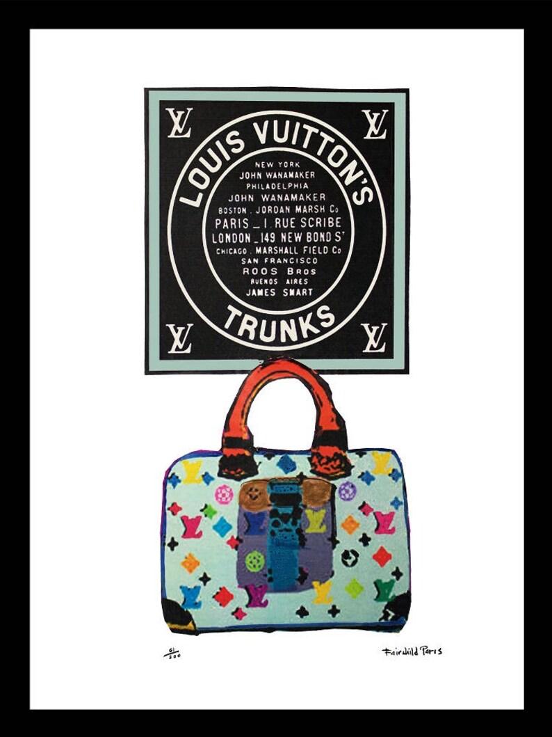 c1cc6a3a1fc240 Fairchild Paris Louis Vuitton Vintage ad | Etsy