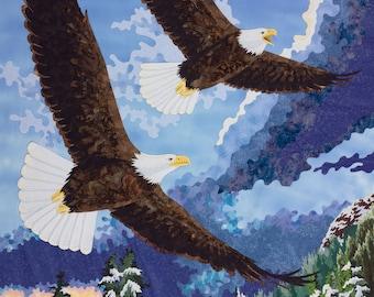 Bald Eagles Wall Decal, Wall Sticker by Kestrel Michaud