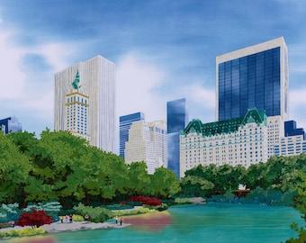 Central Park Skyline, New York City Fine Art Print by Kestrel Michaud