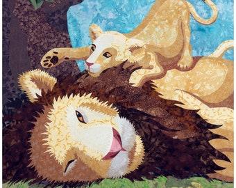 Lion and Cub Fine Art Print by Kestrel Michaud