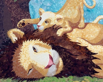 Lion and Cub Wall Decal, Wall Sticker by Kestrel Michaud