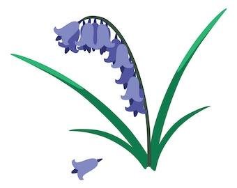 Bluebells - Flower Patch Digital Applique Pattern by Kestrel Michaud