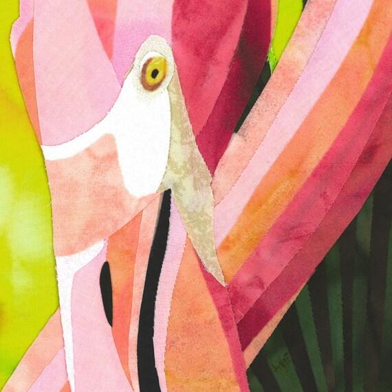 Flamingo Family Fine Art Print by Kestrel Michaud
