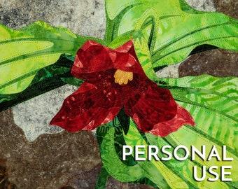 Red Trillium Digital Artwork JPG by Kestrel Michaud - PERSONAL LICENSE