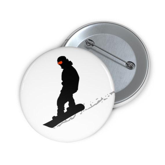 Snowboard Pin Button