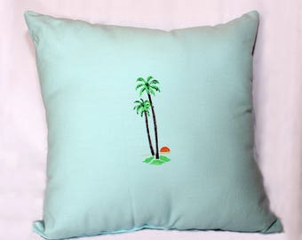 Throw pillow, Hand painted