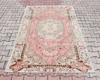 6x9 BLACK Oushak rug,Vintage Rug,Turkish Area rug,Handmade rug 195x280=546 cm SKU:3955 6/'3x9/'1 feet Anatolian rug 76x110 inches