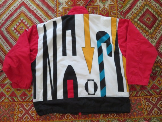 80s Adidas Multicolor Track Jacket Vintage Adidas Trefoil Colorblock Hip Hop Windbreaker Geometric S M L Oldschool Berlin Streetstyle
