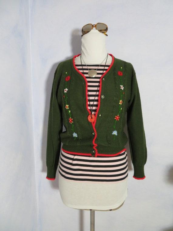 Black & Red Plaid Girls Crop Cardigan Plus Size