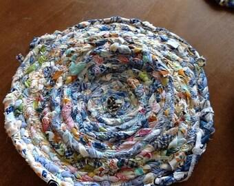 Handmade multi colored trivets, set of 3