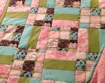 Fanciful Owls baby quilt