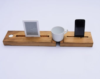 Bespoke bath caddy for wine, coffee, tablets, phones & kindles (made to order)