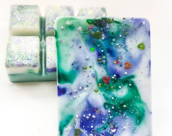 The Scent Galaxy 2 Pack -Lavender Vanilla - 6-Piece Wax Melts. Hand Poured Naturally Strong Scented Wax Cubes