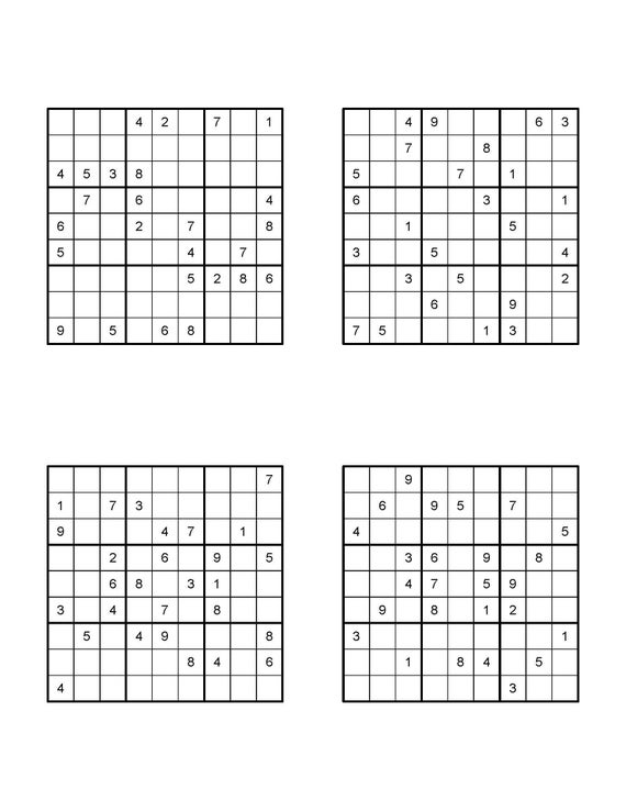 100 Sudoku Puzzles Difficulty 5