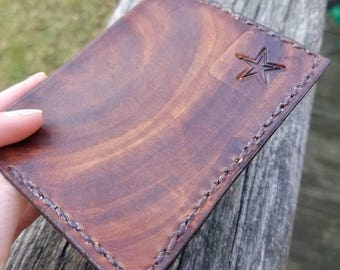 Handmade Leather Two Pocket Wallet