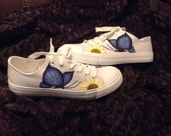Handpainted shoes (butterfly and flower)