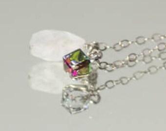 Boho Quarts Crystal Chain Minimalist Necklace