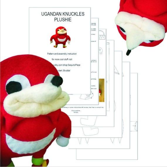 Pdf Diy Sewing Pattern For Ugandan Knuckles Handmade Plush Toy Etsy