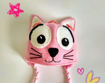Crochet Kitty Hat Animal hat