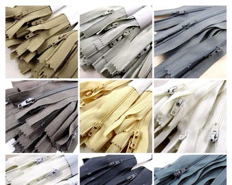 25 x Autolock No 3 Nylon Cushion Zips - 9 Colours & 6 Sizes
