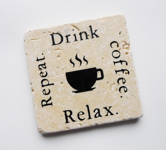 Coffee Coaster Set  Coffee Lover Gift  Resin Coasters  Coffee 1 and 2