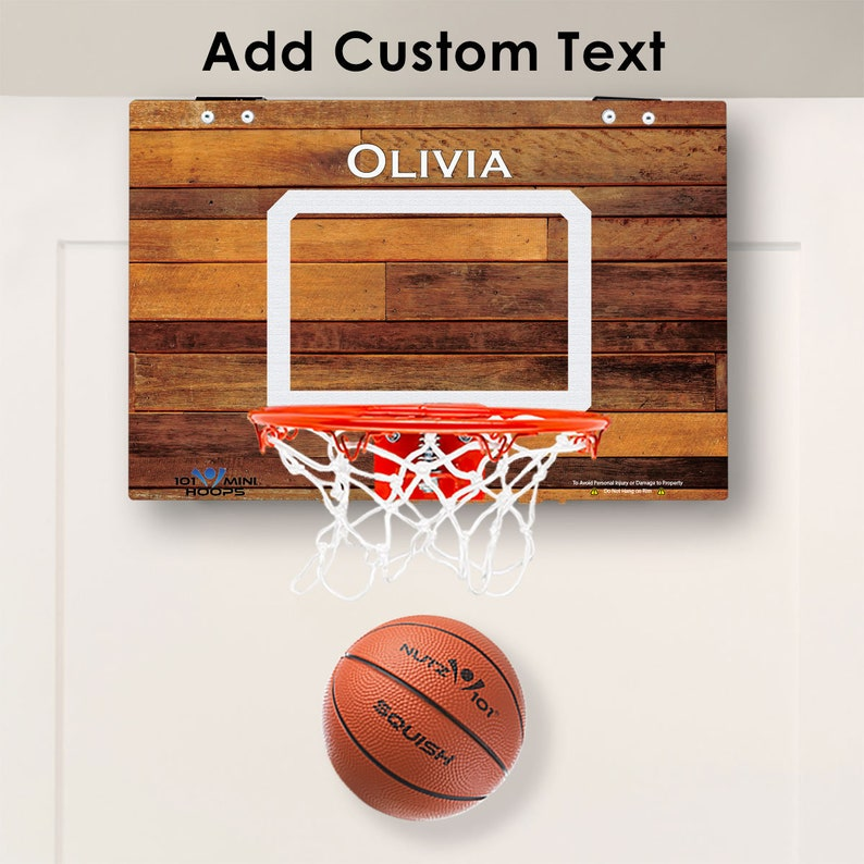 cc54d458c07 Custom Classic Wood Imaged Mini Basketball Hoop | Etsy