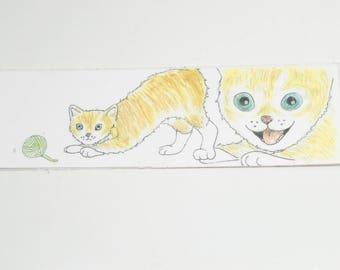 Kitten with Yarn Bookmark