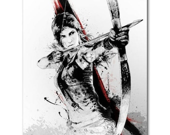 Lara Croft Rise Of The Tomb Raider Top Quality 21x31 Inch Silk Poster Custom Sizes