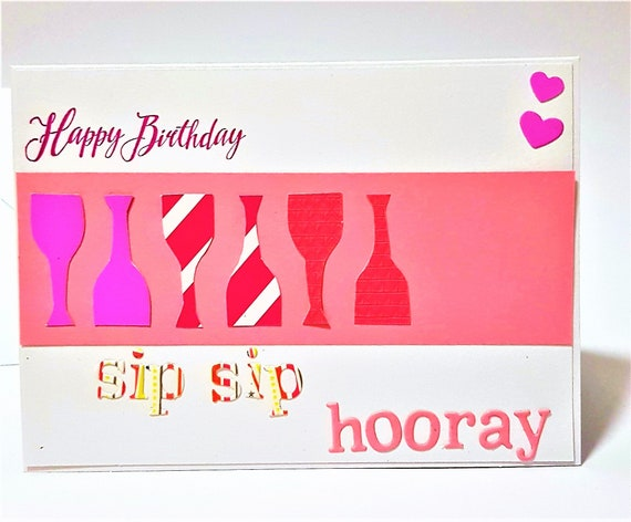 Wine Lovers Birthday Cards Sip Hooray Happy