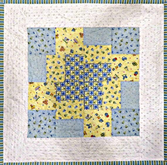 Baby Blocks Quilt Pattern.Baby Blocks Quilt Pattern Digital Download