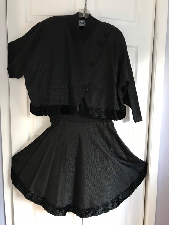 Vintage 1980 blouse and matching skirt