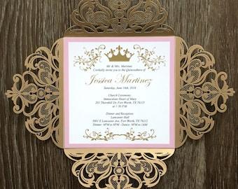 Crown Invitations Etsy