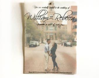 Vellum Transparent Cursive Script Wedding Quinceanera Birthday Invitations
