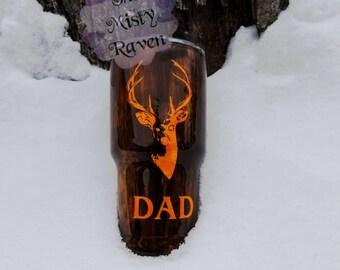 Wood grain hunter cup