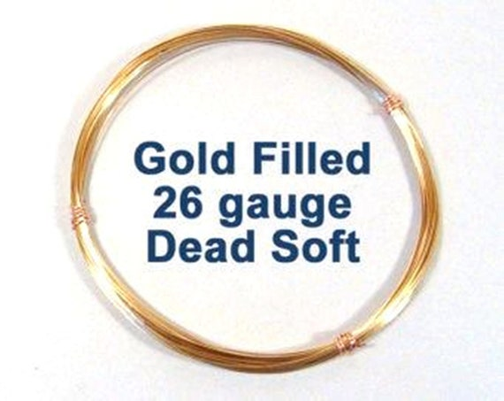 0.41mm 12K Gold Filled Round Wire Half Hard Gage 26
