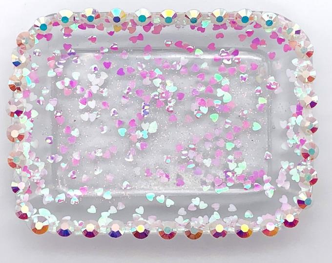 Trinket Dish - Rectangle Shaped Bowl - Trinket Tray Dish - White Trinket Dish - Bridal Jewelry Holder
