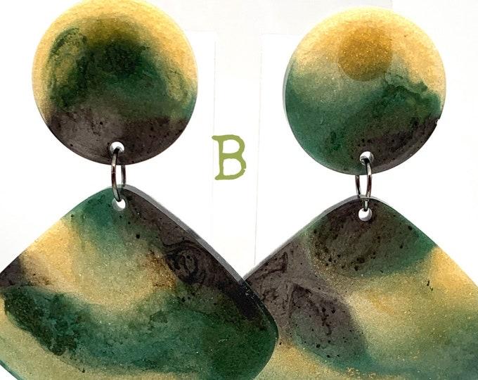 Handmade Botanical Resin Dangle Earrings | Resin Earrings | Dangle Earrings | Earrings | Statement Earrings | Gift for Her