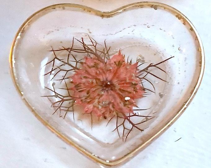 Trinket Dish - Jewelry Dish - Cottagecore - Ring Holder Dish - Flower Dish - Botanical Trinket Tray