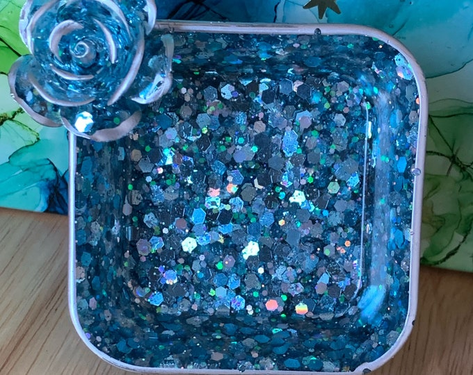 Trinket Dish | Resin Jewelry Tray | Blue Jewelry Tray | Jewelry Storage | Ring Holder Dish | Trinket Dish Resin | Mother's Day Gifts,