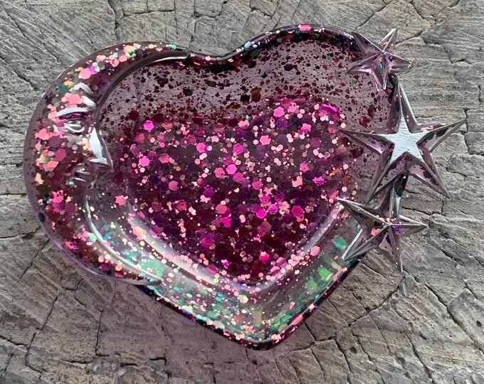 Trinket Dish - Jewelry Dish - Celestial Decor - Ring Holder Dish - Stars and Moon